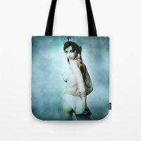 nurse Tote Bags featuring sexy Nurse by Illu-Pic-A.T.Art