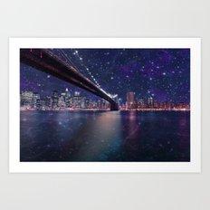 Spacey Manhattan Skyline  Art Print