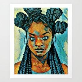 Black Blue yes Art Print