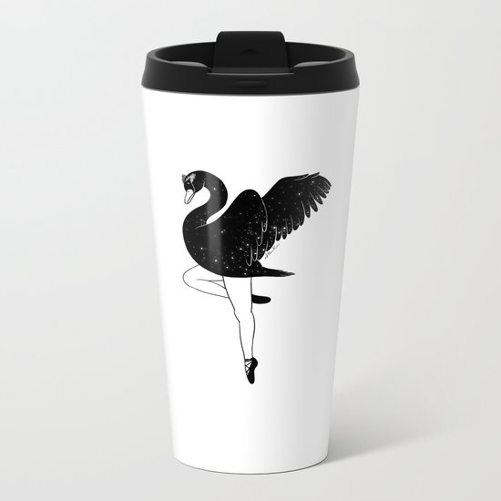 Black Swan Metal Travel Mug