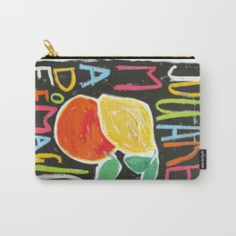 You Are Made of Magic Rainbow Citrus Motivational Poster Carry-All Pouch