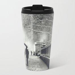 New York City Snow Bryant Park Travel Mug