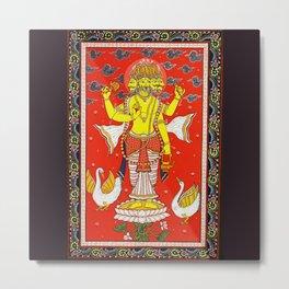 Hindu Lord Brahma 1 Metal Print