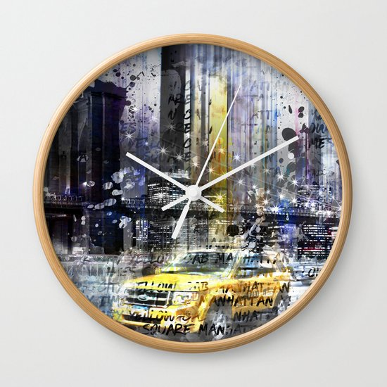 City-Art NYC Collage Wall Clock