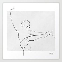 Dancer Line Drawing Art Print