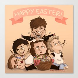 Happy OT5 Easter Canvas Print