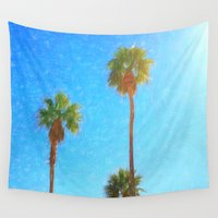 palms Wall Tapestries featuring Palms by Tonya Doughty