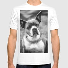 Dogs MEDIUM Mens Fitted Tee White