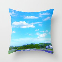 Summer on the Essex River Throw Pillow