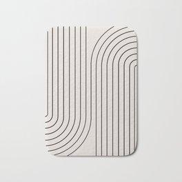 Minimal Line Curvature - Black and White I Bath Mat