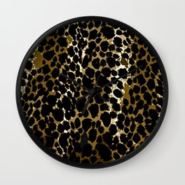 Animal Print Pattern Black and Brown Wall Clock