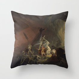 Aeneas and the Sibyl Throw Pillow
