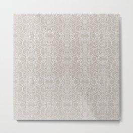 Snow Vertical Lace Metal Print