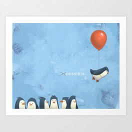 Penguin Possible Art Print
