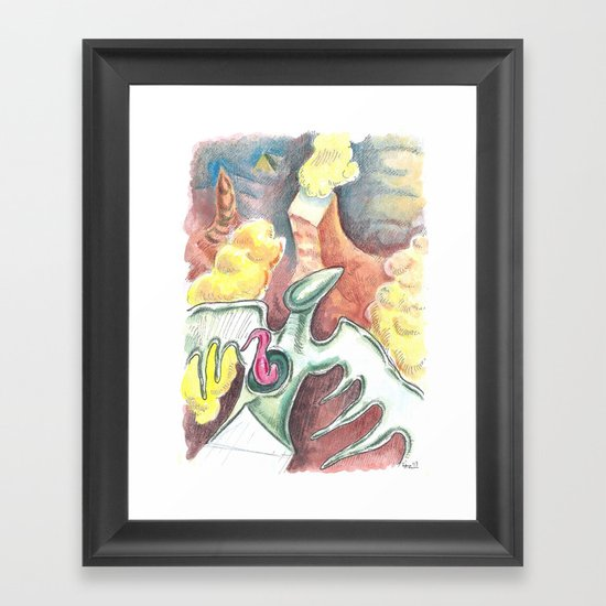 Flying towards nowhere Framed Art Print