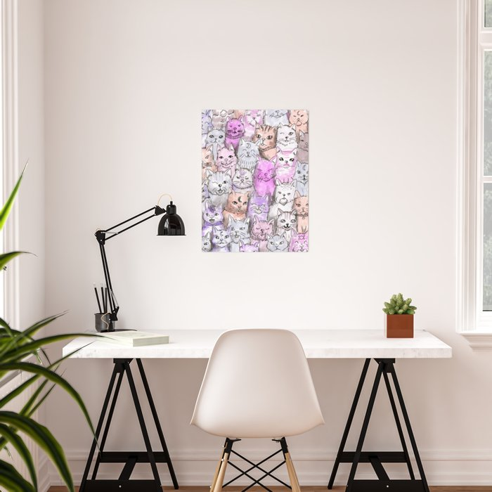 pastel cats Poster