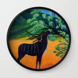 Kudu Landscape Acrylic Wall Clock