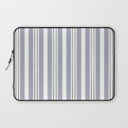 Bold Stripes with Glitter Look Pin Stripes Laptop Sleeve