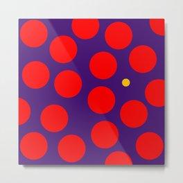 yellow dots 02 Metal Print