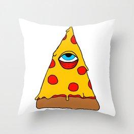 Illuminati Pizza - Swag Pepperoni Confirmed Throw Pillow