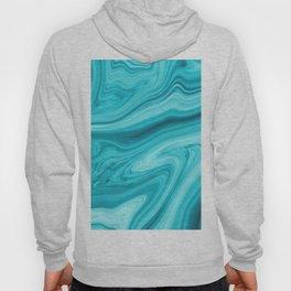 Blue Marble Pattern Hoody