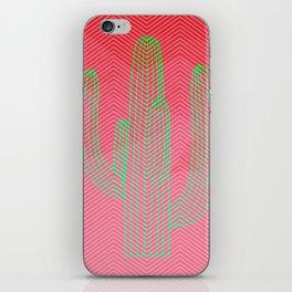 Deserted cactus - chevron pink iPhone Skin