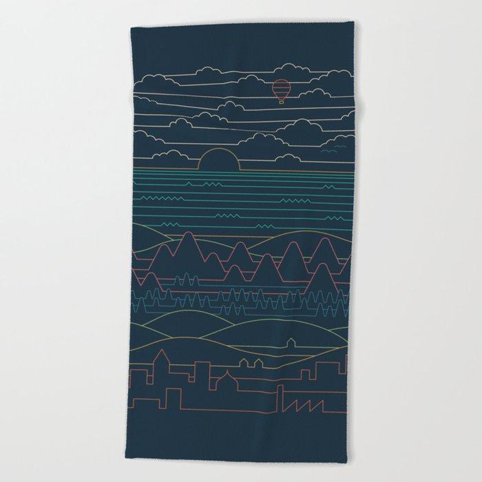 Linear Landscape Beach Towel