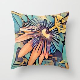 Colorful Shoots Throw Pillow