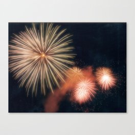 Fire Works photography Canvas Print