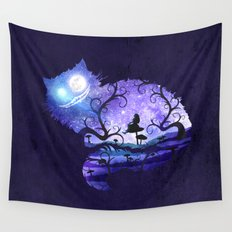 We are all mad here Wall Tapestry