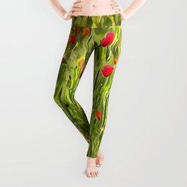 Surreal Hypnotic Poppies Leggings