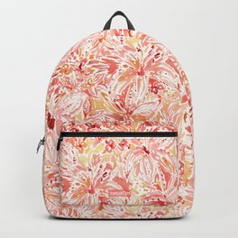 LILY LUST Peach Painterly Floral Backpack