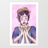 fire emblem Art Prints featuring Donnel - Fire Emblem Confession by Audienta