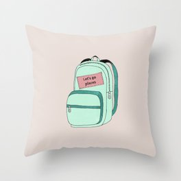 Backpack Throw Pillow