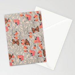 Monarch garden 001 Stationery Cards