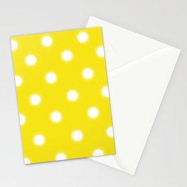 Yellow & White Polka Dot Stationery Cards
