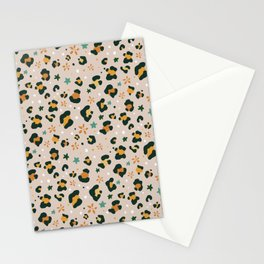 Spring Cheetah Pattern VIII Stationery Cards