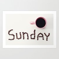 sunday's coffee Art Print