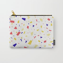 Summer Terrazzo Pattern - Orange and Yellow Granite Marble Speckles Carry-All Pouch