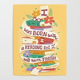 Reading list Poster