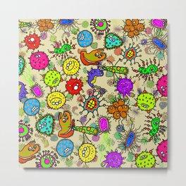 Doodle Germs Metal Print