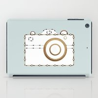 vintage camera iPad Cases featuring Camera by Little Owl Oddities