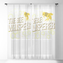 The Bee Whisperer For Beekeeper Sheer Curtain