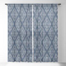 arcadia diamonds - navy blue Sheer Curtain