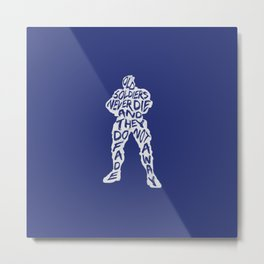 Soldier 76 Type illustration Metal Print