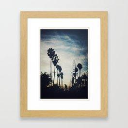 December evening Framed Art Print