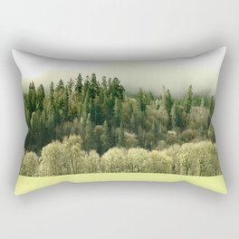 Muted Color Hillside Rectangular Pillow