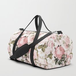 Vintage & Shabby Chic - Sepia Pink Roses  Duffle Bag
