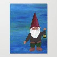 gnome Canvas Prints featuring Gnome by rebecca oravec