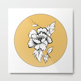 Peony for your Thoughts Metal Print